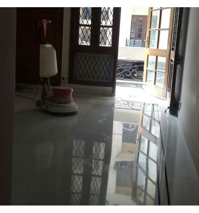 Marble Floor Polishing/Cleaning In AIIMS